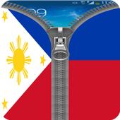 Philippines Flag Zipper Lock icon