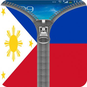 Philippines Flag Zipper Lock poster