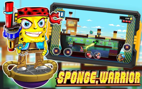 Sponge Warrior Battle Shooter apk screenshot