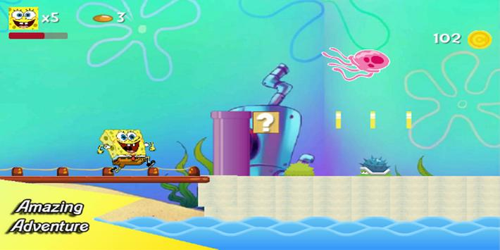 Sponge Adventure : Bob bikini world screenshot 1