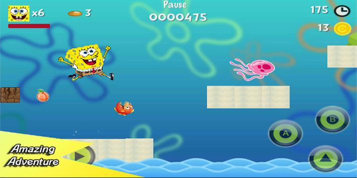 Sponge Adventure : Bob bikini world screenshot 2