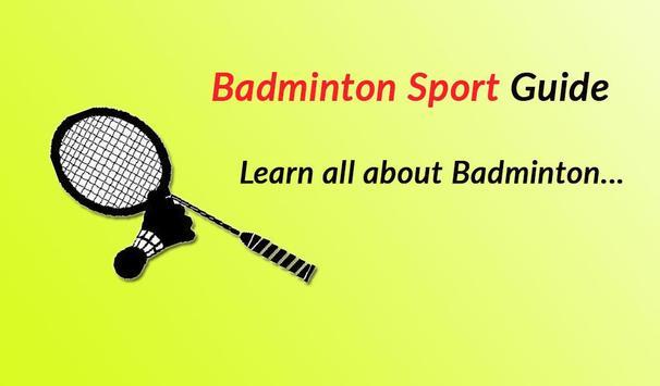 Badminton Sport Guide poster