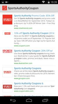 Sports Authority Coupon poster