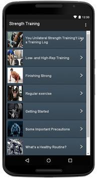 Strength Training apk screenshot