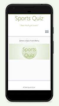Sports Quiz poster