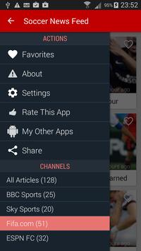 Soccer News Feed screenshot 1