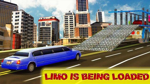 Cargo Limo Car Transport Truck –Heavy 3D Drive Sim apk screenshot