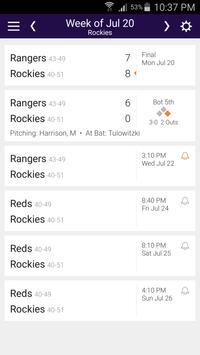 Baseball Schedule for Rockies: Live Scores & Stats poster