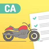 California DMV Motorcycle License knowledge test icon