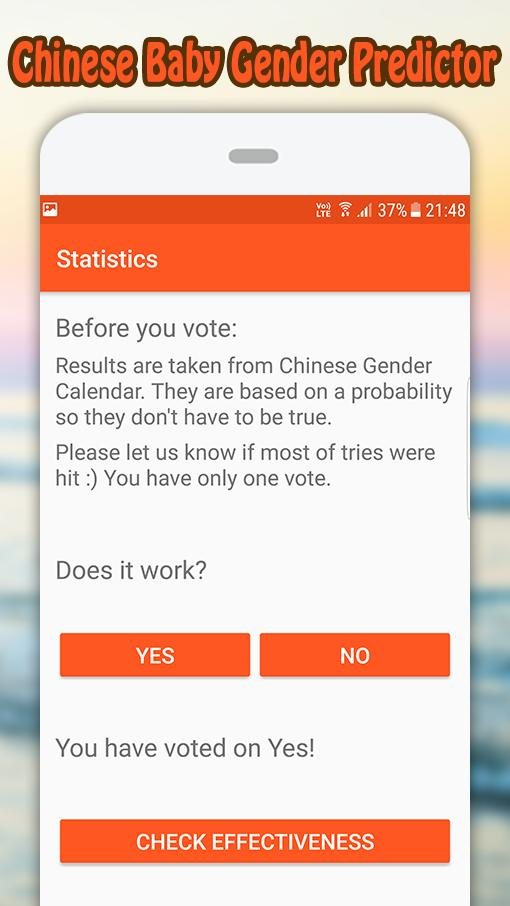 Chinese Baby Gender Predictor - Boy or Girl for Android