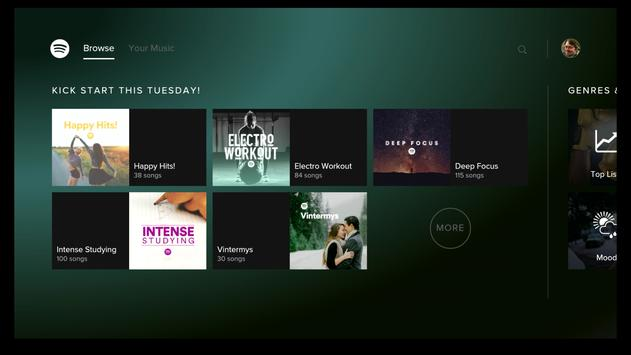 Schermata apk Spotify Music per Android TV