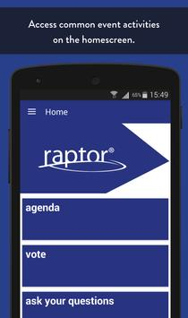 Raptor Events apk screenshot