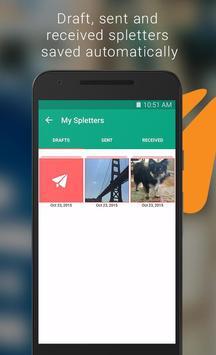 Spletter - send mail & photos apk screenshot