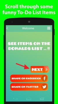 Trump Todo List Maker screenshot 1