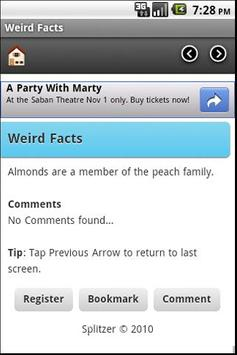 Weird Facts apk screenshot