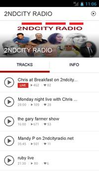 2NDCITY RADIO poster