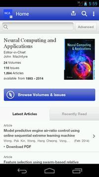 Neural Computing Applications poster