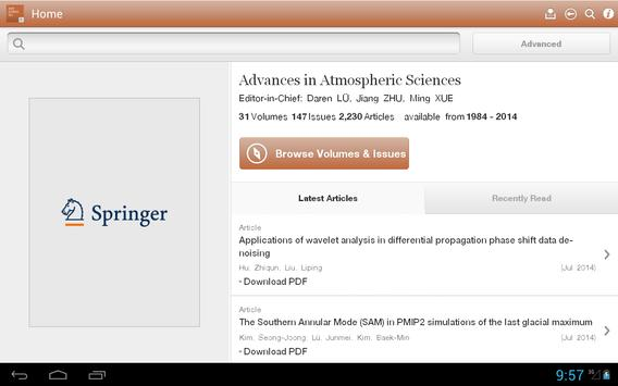 Advances Atmospheric Sciences apk screenshot