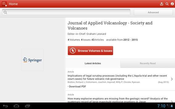 Journal of Applied Volcanology screenshot 4