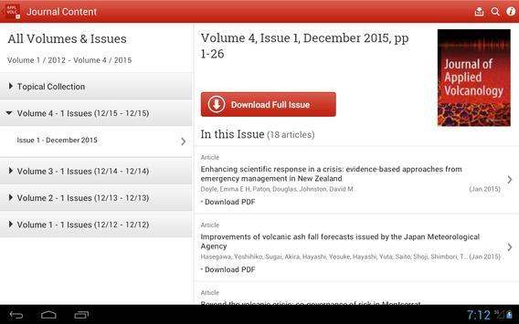 Journal of Applied Volcanology screenshot 5
