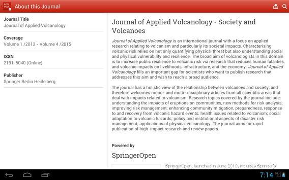 Journal of Applied Volcanology screenshot 6