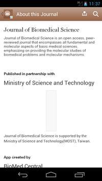 Journal of Biomedical Science apk screenshot