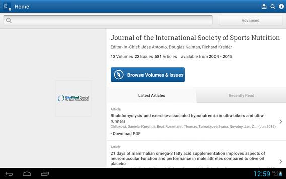 J Int Society Sports Nutrition apk screenshot