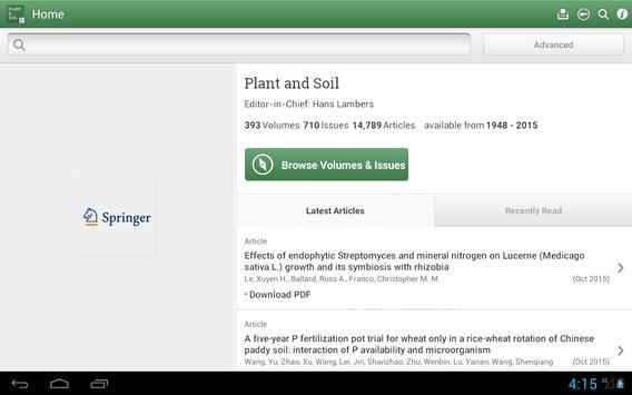 Plant and Soil apk screenshot