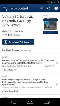 Journal of Material Science apk screenshot