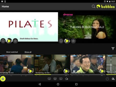 bobblesTV - your home TV app apk screenshot