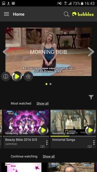 bobblesTV - your home TV app poster