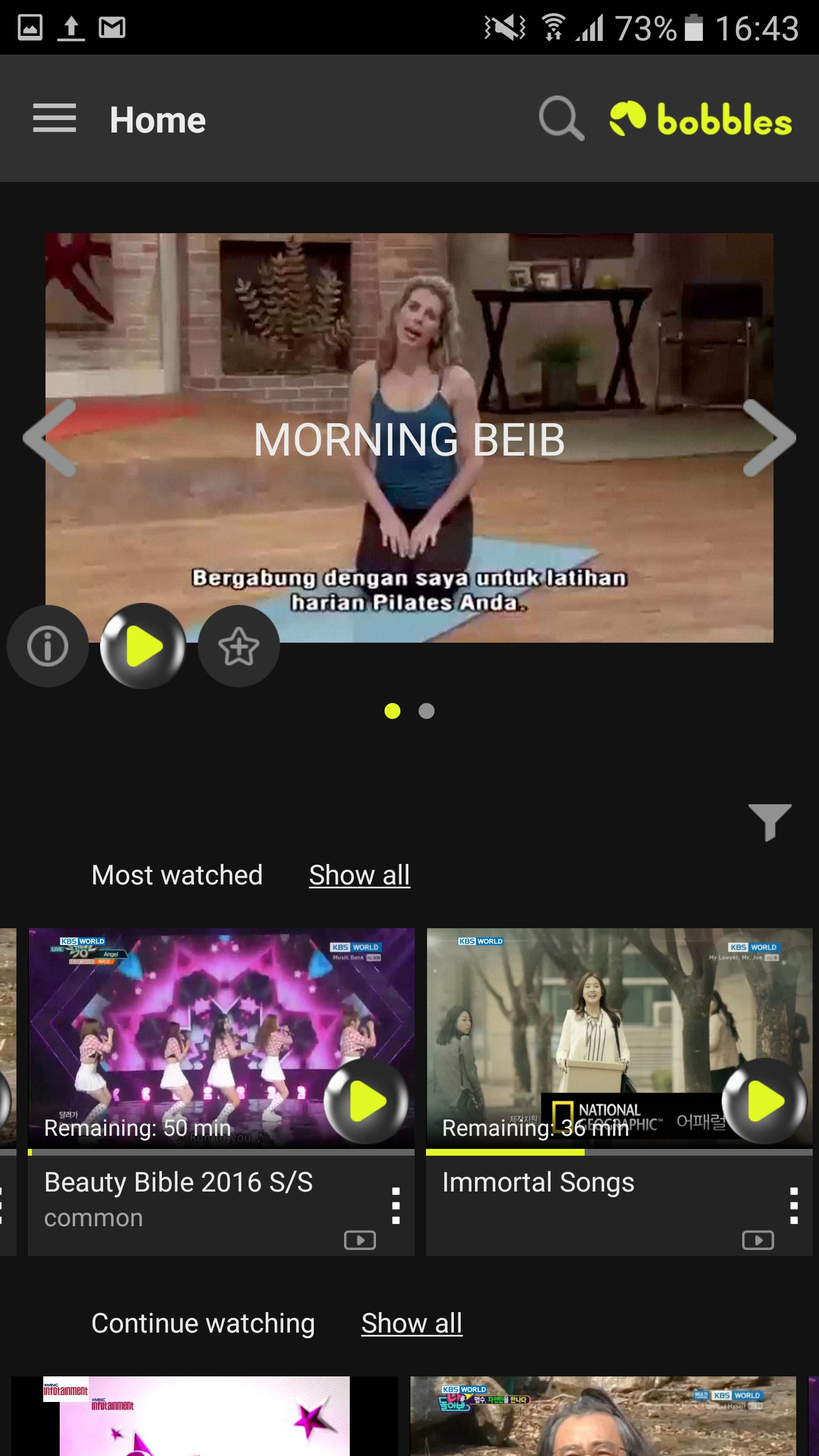 bobblesTV - your home TV app for Android - APK Download