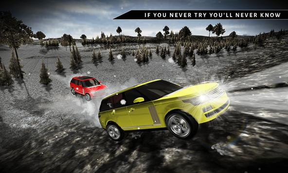 Offroad 4x4 Rover Snow Driving poster