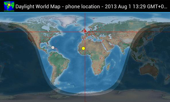 Daylight world map apk download free tools app for android daylight world map poster gumiabroncs Images