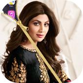 shilpa shetty Zipper Lock Screen icon