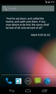 Bible Verse of the Day Widget screenshot 1