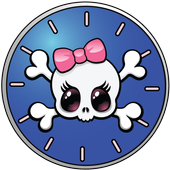 Girly Skull Clocks - FREE icon