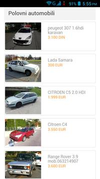 Polovni Automobili Srbija apk screenshot