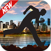 The strong parkour man icon