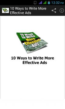 10 Ways to Write Effective Ads poster
