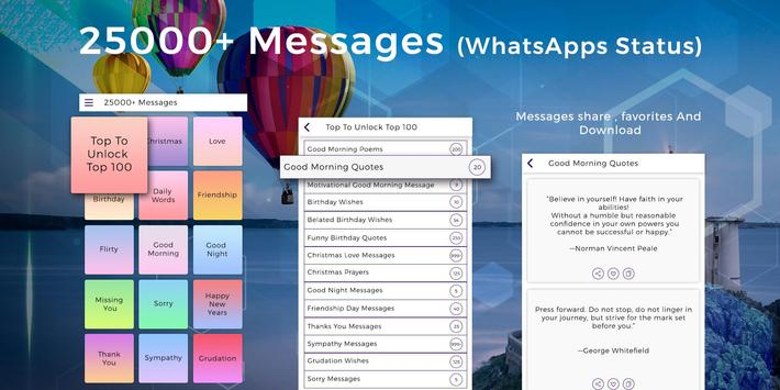 25000 Messages, Quotes, Status, Wishes, Poems poster