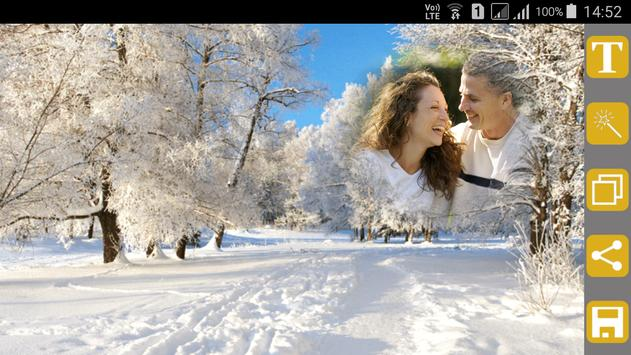 Snowfall Photo Frames screenshot 9