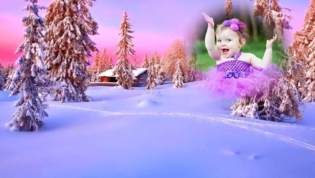 Snowfall Photo Frames screenshot 2