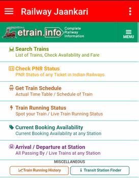 Railway Jaankari screenshot 2