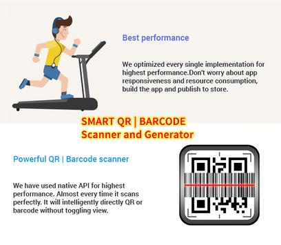 Smart QR and Barcode Scanner and Generator - Free screenshot 1