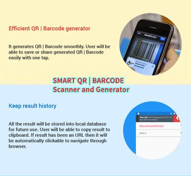 Smart QR and Barcode Scanner and Generator - Free screenshot 2