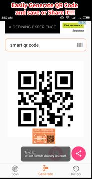Smart QR and Barcode Scanner and Generator - Free screenshot 6