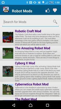 Robot MOD For MCPE screenshot 1
