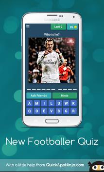 New footballer Quiz poster