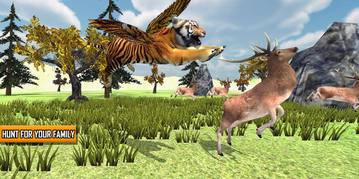Angry Flying Tiger Wild Simulator 3D poster